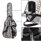 Andoer 600D Water-resistant Gig Guitar Bag Backpack Shoulder Straps Pockets 5mm Cotton Padded Black for 39/40/41in Guitar