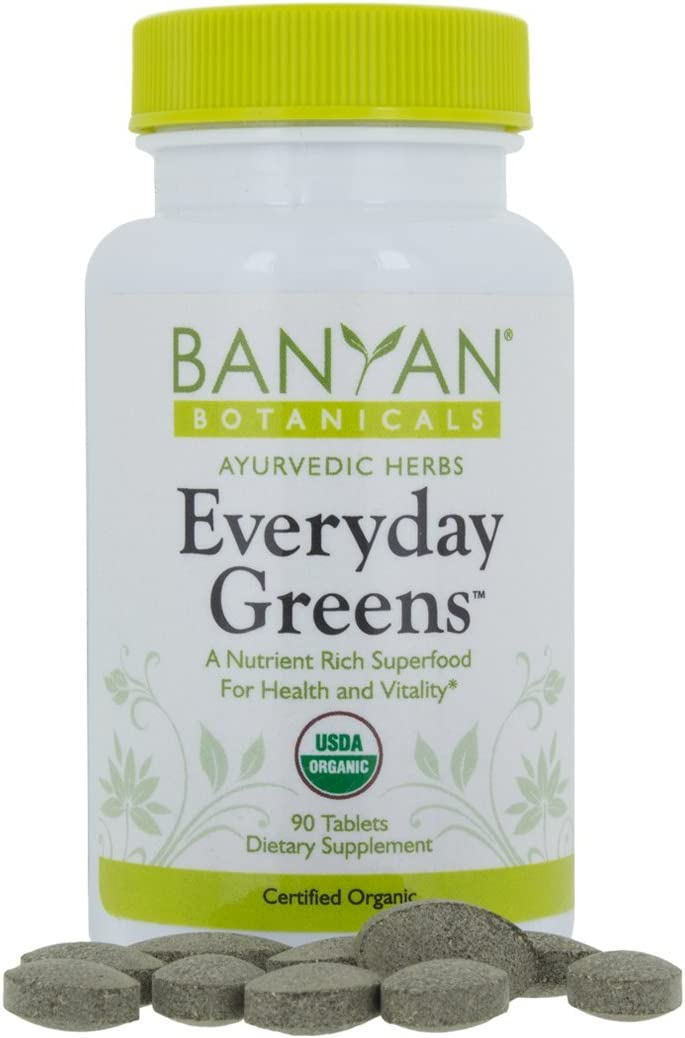 Banyan Botanicals Everyday Greens - Certified Organic, 90 Tablets - A Nutrient Rich Superfood for Health & Vitality