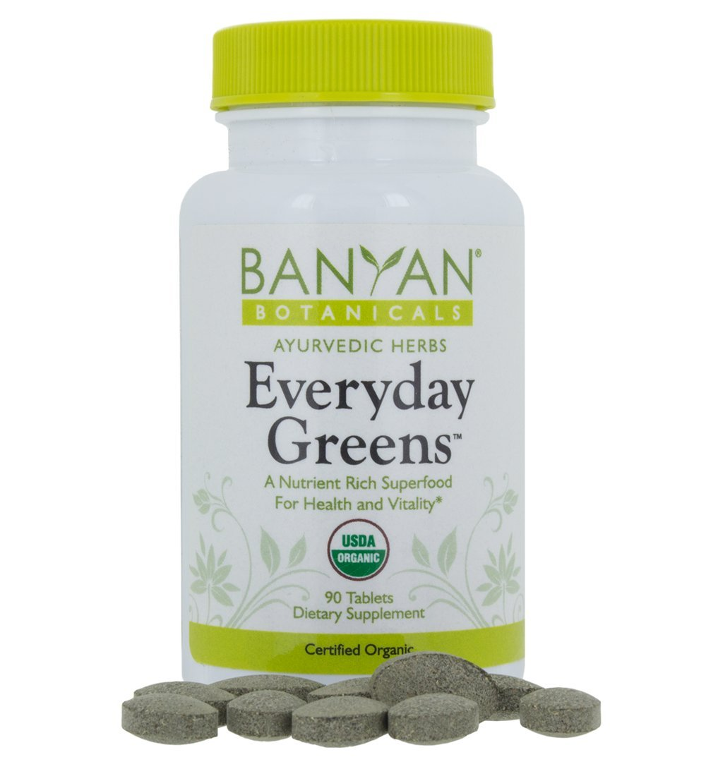 Banyan Botanicals Everyday Greens - Certified Organic, 90 Tablets - A Nutrient Rich Superfood for Health & Vitality by Banyan Botanicals