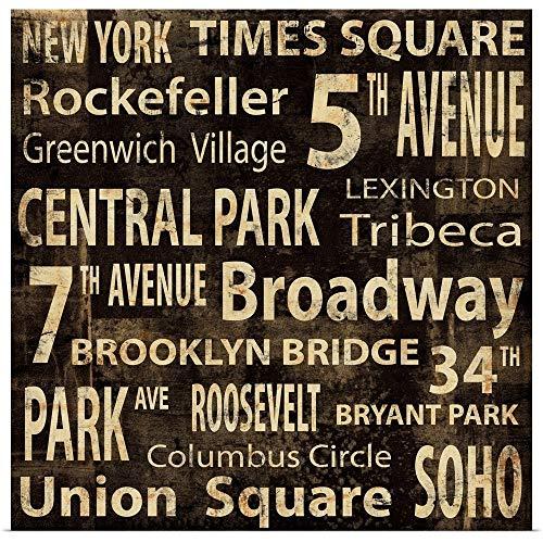 GREATBIGCANVAS Poster Print Entitled NY by Luke Wilson ()