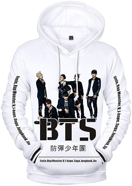 EMILYLE Donna 轉 Tear Sweatshirt Bangtan Boys BTS World Tour Love Yourself  Foto Stampa Felpe  Amazon.it  Abbigliamento b4be0ed85d2b