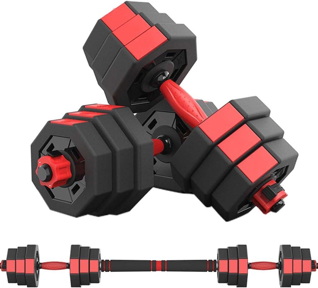 Mancuerna Dumbbell Octagon Ajustable Combinación de mancuernas de los hombres de la aptitud muscular Barra Home Fitness Equipment brazo ejercicio de gimnasio en casa Mancuernas Dumbbells Fitness y eje