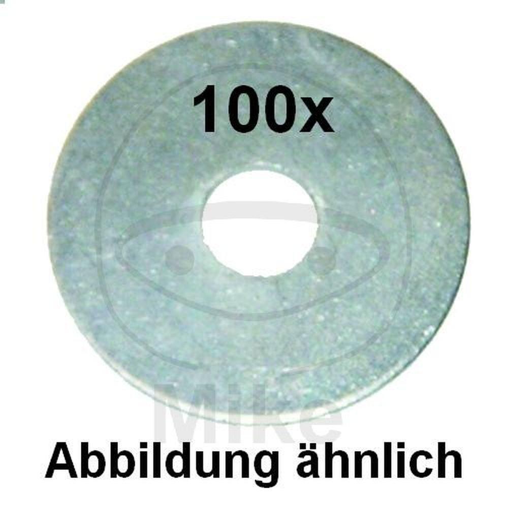 verzinkt 100 St/ück St/ärke 1,25 mm Dresselhaus 0//2104//001//8,4//20// //51 Kotfl/ügelscheiben 8,4 x 20 galv
