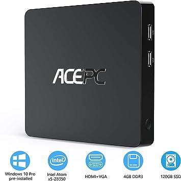 Mini PC,T11 Intel Atom Z8350 Windows 10 Pro (64 bits) Mini ...