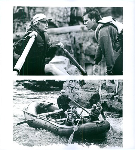 Seasoned photo of Different scenes from the film The River Wild with Meryl Streep as Gail, Kevin Bacon as Wade, Joseph Mazzello as Roarke and John C. Reilly as Terry, 1994.