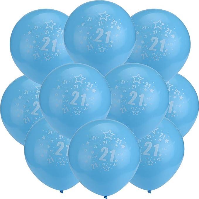 Amazon.com: Globos de fiesta de 20º cumpleaños de 12.0 in ...