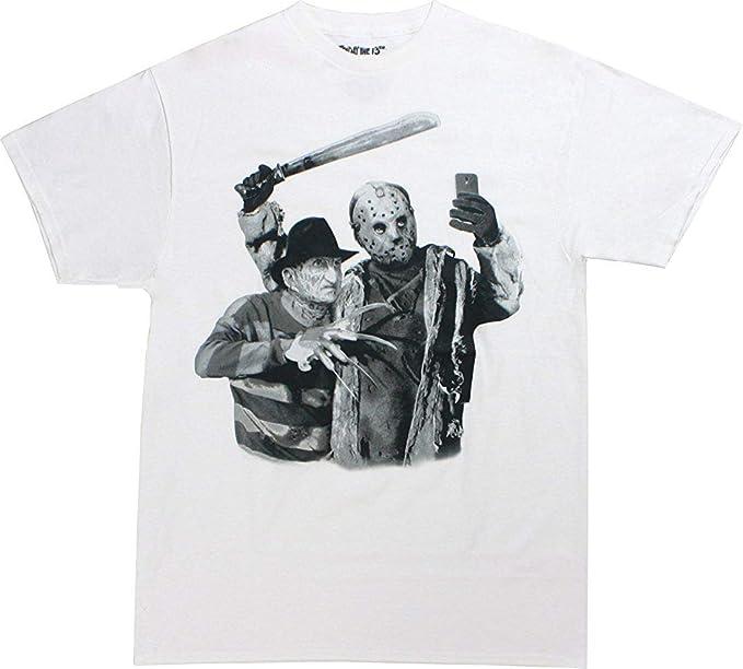Amazon.com: TopVip Camiseta Freddy Krueger Jason Voorhees ...