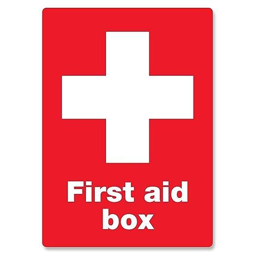Hasirama Botiquín de Primeros Auxilios Carteles de Chapa de ...