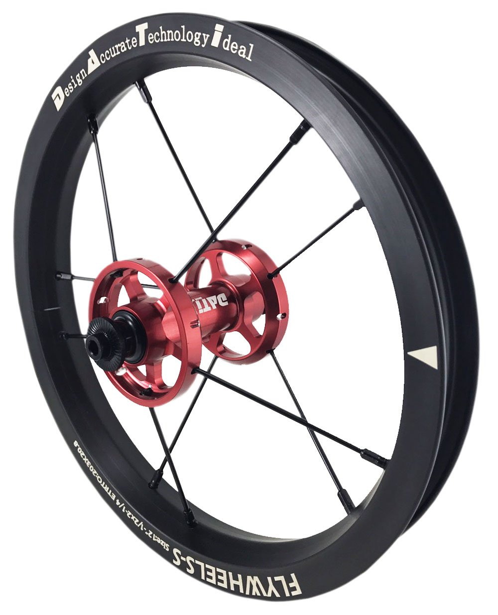 NEW DATI S6A-W AlloyPush Kids Balance Bike Bicycle Super light wheels Set 12'' F+R (RED, 95X8mm) by DATI