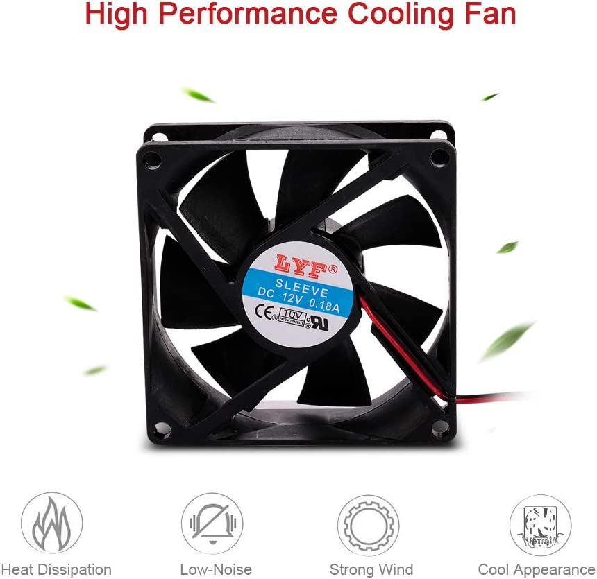 Festnight 4 pin Computer Case Cooling Fan Cooler PC Case Fast Heat Dissipation Low Noise 9cm