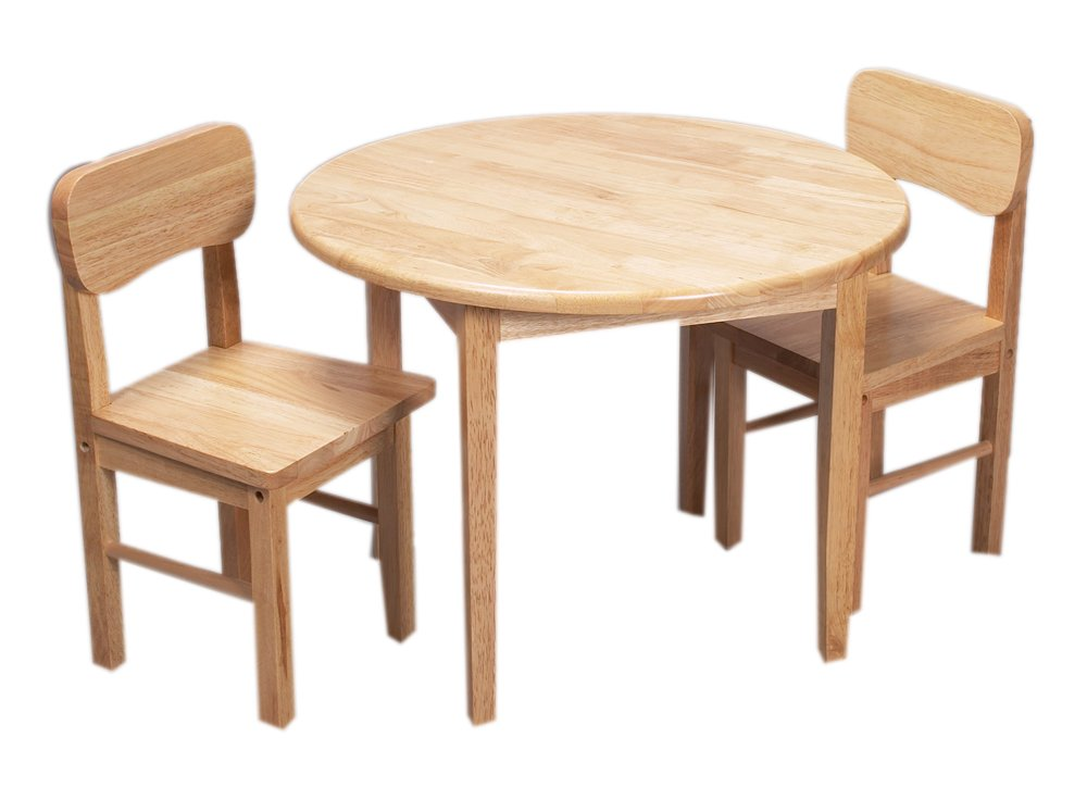 Nice Amazon.com: Gift Mark Round Table And Chair Set   Natural: Kitchen U0026 Dining