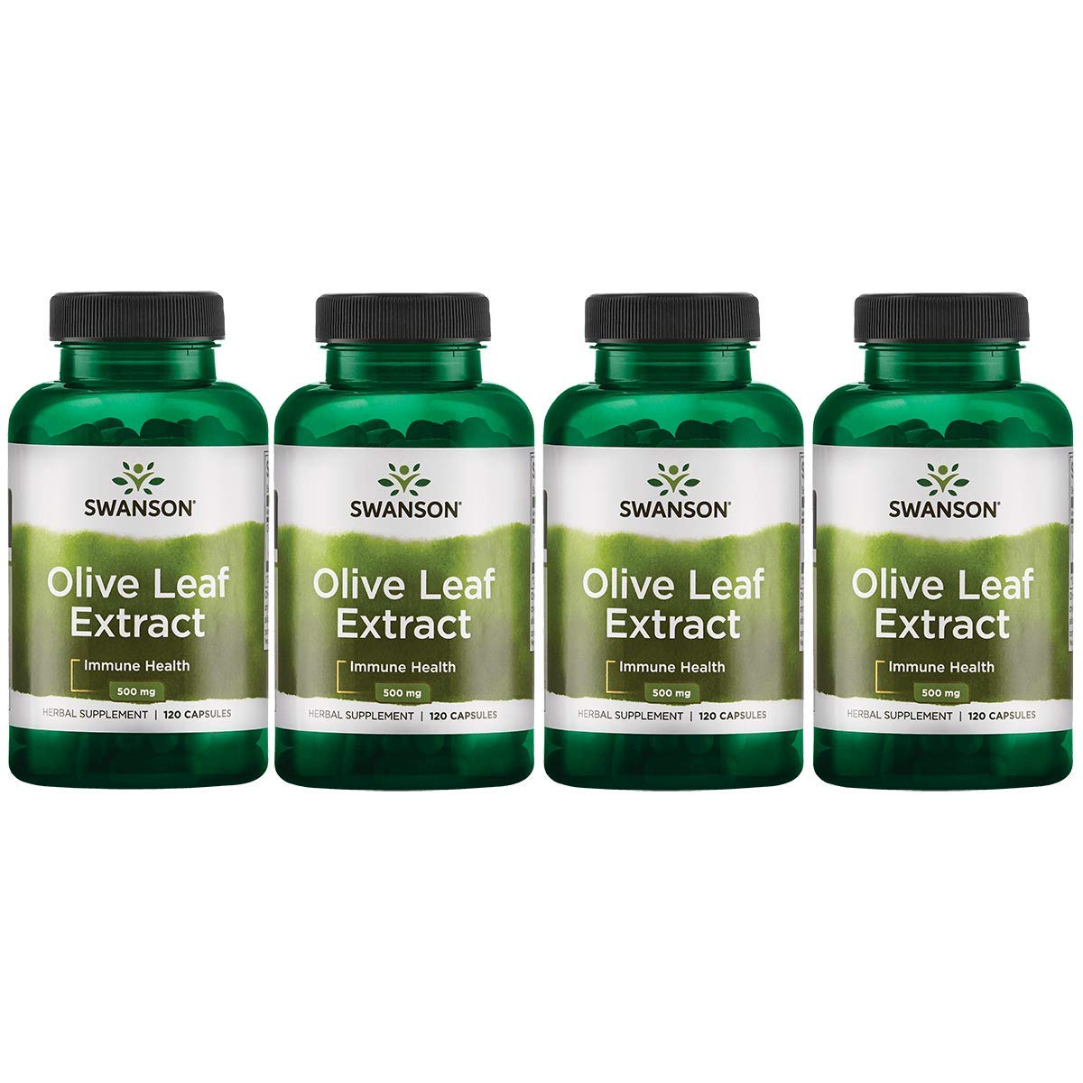 Swanson Olive Leaf Extract 500 mg 120 Caps 4 Pack
