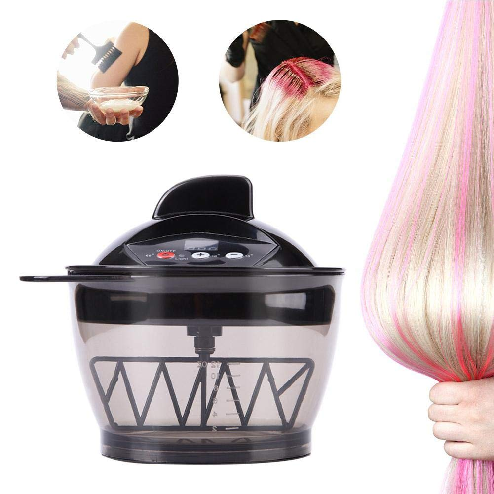 Hair Color Wax Mixing Bowls - Professional Salon Level Automatic Electric Hair Dyeing Cream Mixer - SELF-Timing,Rapid Fusion,Durable,Easy-Cleaning