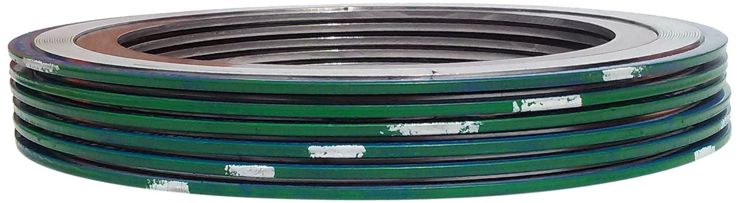 Pressure Class 150# Pack of 6 Sterling Seal 9000IR20316PTFE150X6 316L Stainless Steel Spiral Wound Gasket with 316SS Inner Ring and PTFE Filler for 20 Pipe Green Band with White Stripe