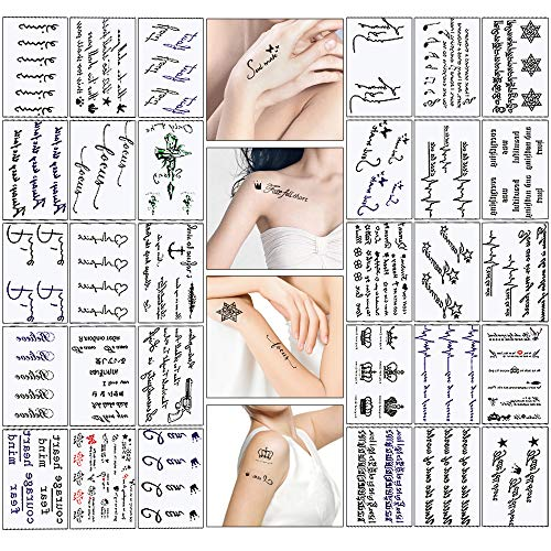 Mixed Style Body Art Temporary Tattoos Paper Waterproof Tattoo (30 Sheets) ()