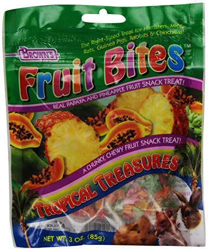 Fruit Extreme (F.M.Brown's 51227 Extreme Tropical Treasures Small Animal Treats, 3-Ounce)