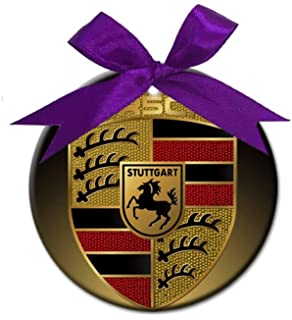 Joanna Personalized Porsche Round Porcelain Ornament Christmas Holiday decore Gift BH415831