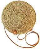 Bali Rattan – Handwoven Round Rattan Bag (Large Size 9″) For Sale