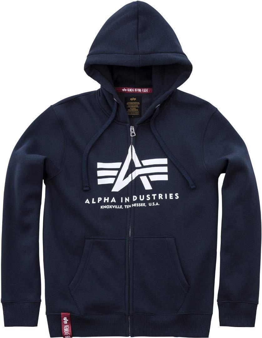 Alpha Industries Basic Zip Hoodie Marineblau L