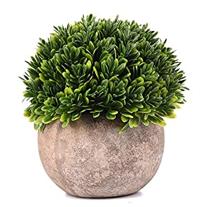 Shuheng Artificial Plant Potted Green Grass for Home Office Outdoor Decor Mini Plastic Fake Lifelike Artificial Flowers 13