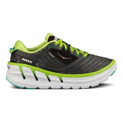 Hoka One One Womens Vanquish Black Acid Aqua Running Shoe - 10.5