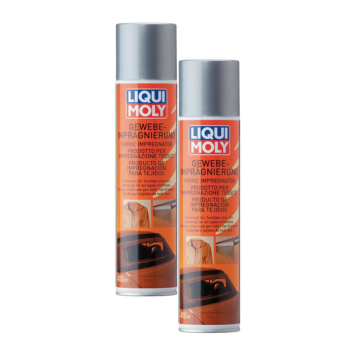 2 x Liqui Moly 1594 tejido impregnació n de espray impermeabilizador Cabrio techo 400 ml