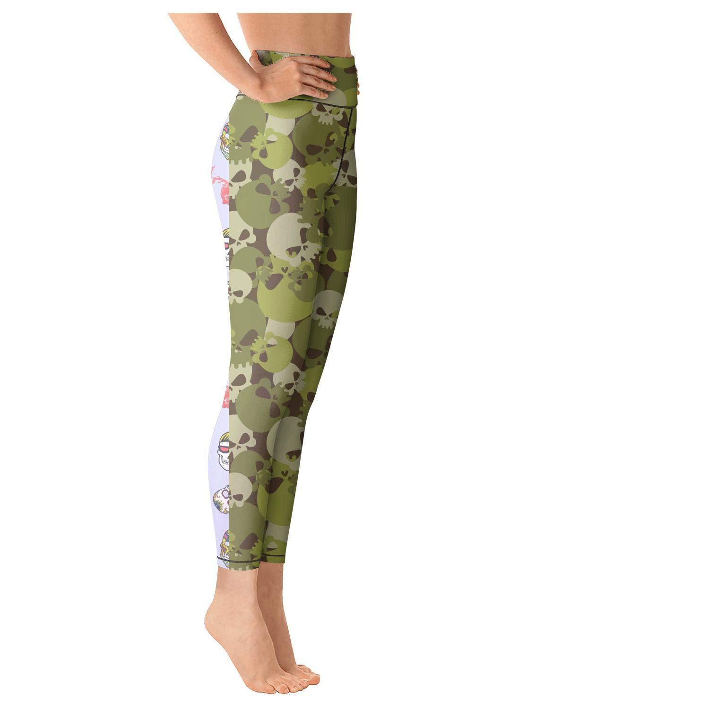 MPNue Pretty Women Mexican Cactus Skull Outdoor Yoga Leggings Yoga Clothes Pants Cool Fun