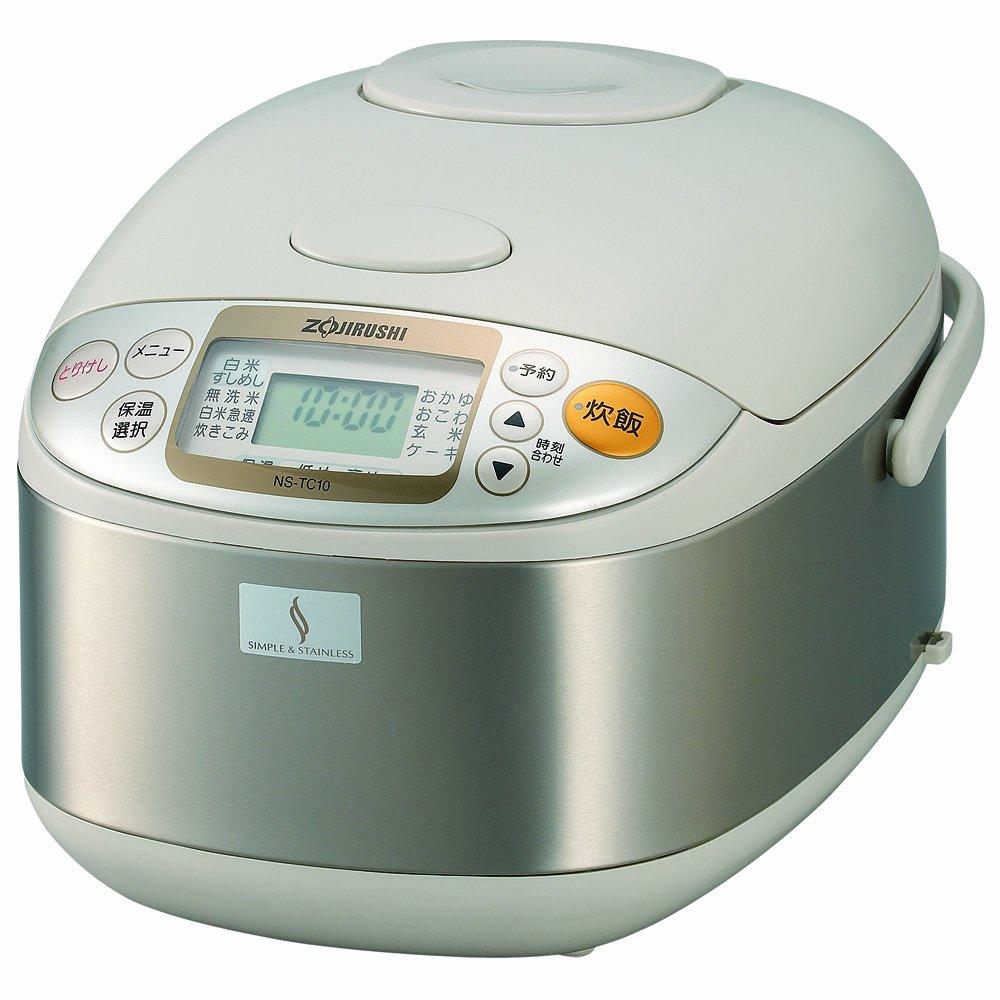 象印 炊飯器 マイコン式 5.5合 ステンレス NS-TC10-XA 5.5合(3~5人)  B002E1KRWY