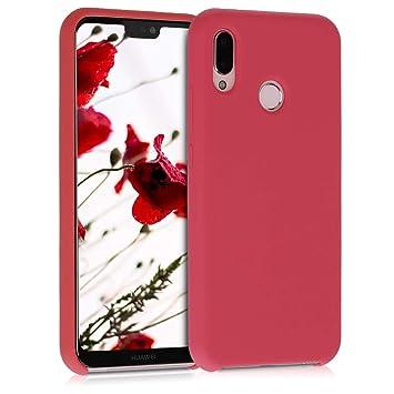 kwmobile Funda para Huawei P20 Lite - Carcasa de TPU para teléfono móvil - Cover Trasero en Rojo neón