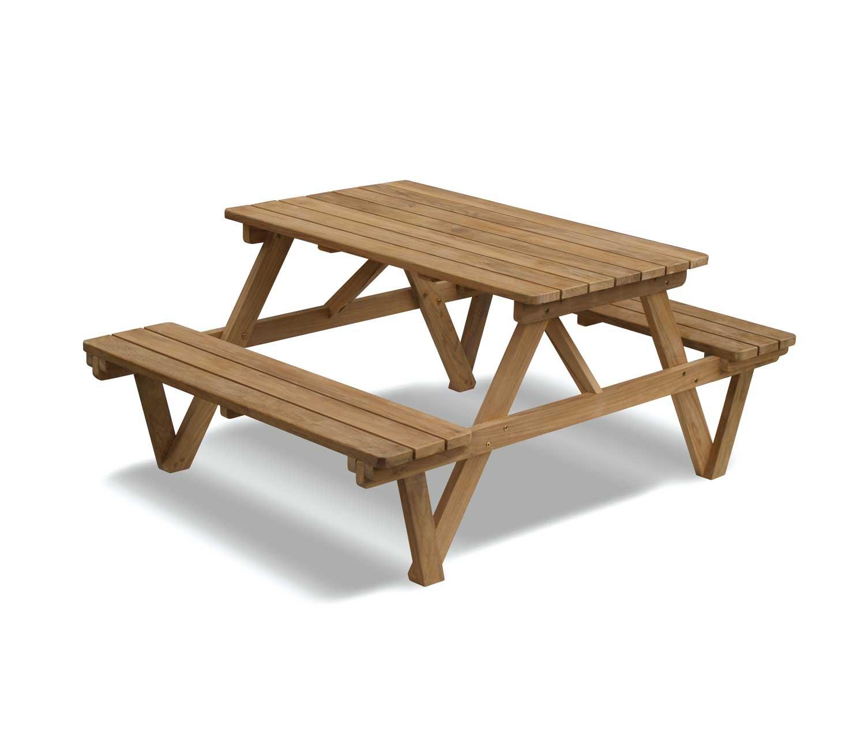 Swell Jati Teak Heavy Duty Picnic Table 1 2M 4Ft Picnic Bench Brand Quality Value Dailytribune Chair Design For Home Dailytribuneorg