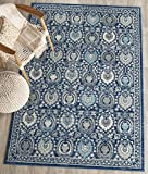 Safavieh Evoke Collection EVK251C Contemporary Blue and Ivory Area Rug (5'1″ x 7'6″)