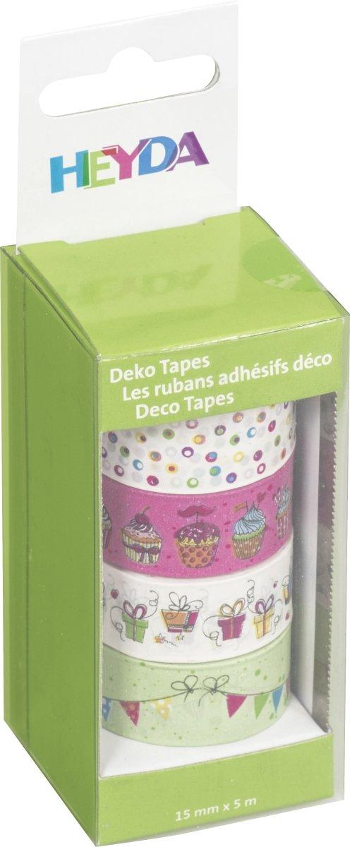 Heyda 203584579 Deko Tapes (Weihnachten Mini) glänzend Jede Rolle 12 mm Rosegold