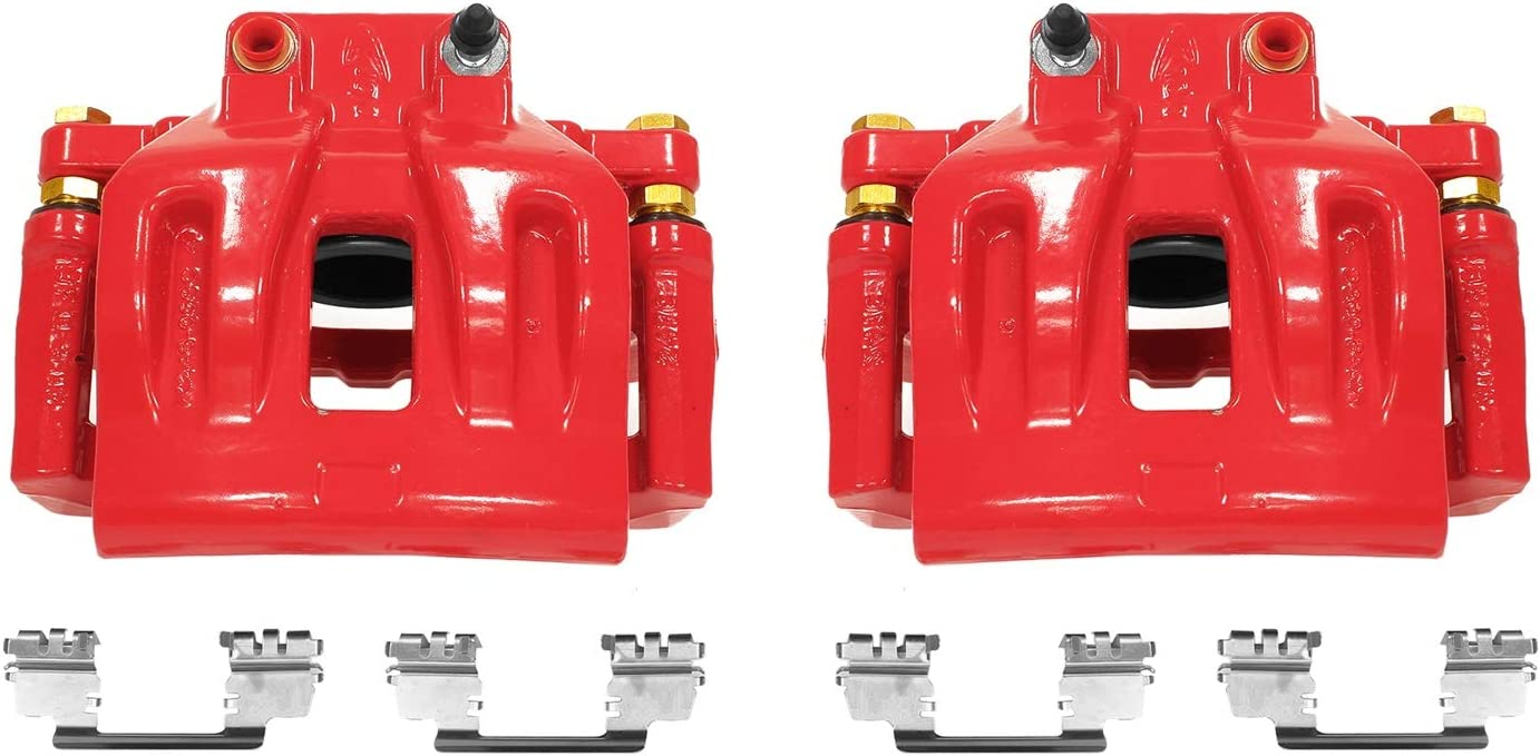 Power Stop S4968A Red Powder-Coated Performance Caliper