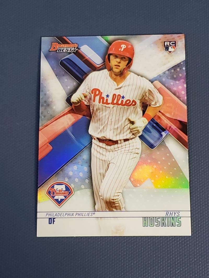 Only 335 made! 2018 Topps Tier One Relics #T1R-RH Rhys Hoskins Game Worn Phillies Jersey Baseball Rookie Card