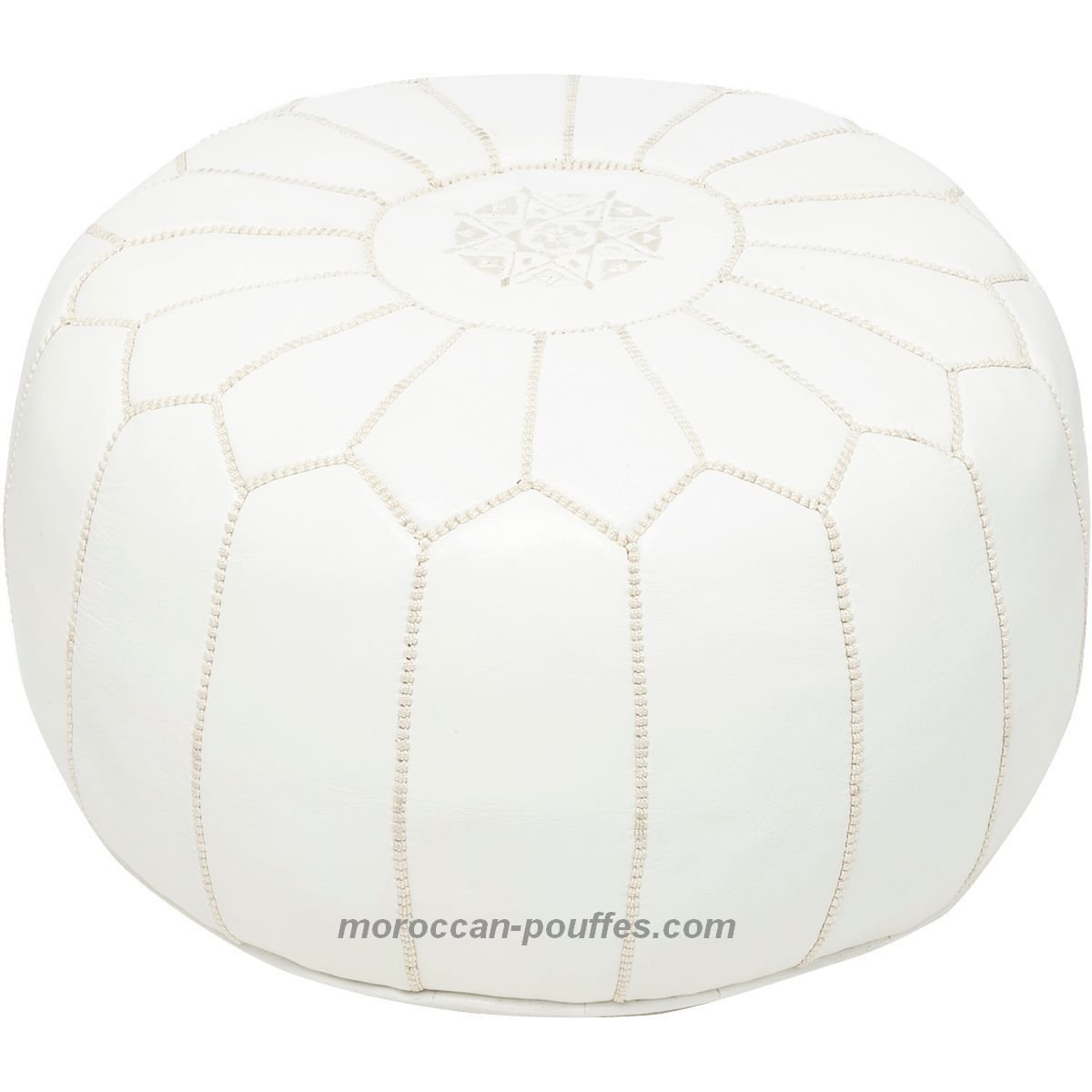 moroccan poufs leather luxury ottomans footstools white unstuffed