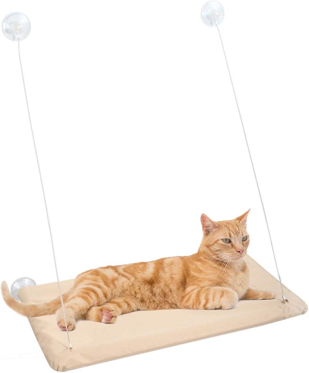 Gwotfy Cama para Gatos, Ventana para Gatos, Asiento de Percha, ventosas para Trabajo Pesado, Hamaca para Mascotas, Hamaca para Ventana para Gatos, Percha, Cama para Gatos, Capacidad para hasta 30 kg