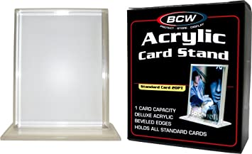 Bcw 12 Inch Vertical Acrylic Card Stand Or Holder With Uv