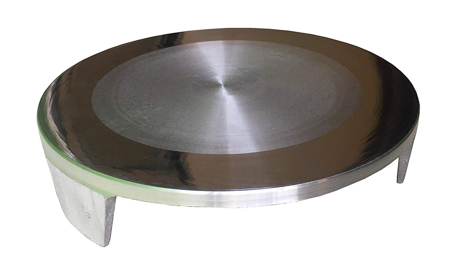 Aluminium Circular Rolling Board/Chakla/Polpat (Silver),1 Quantity by Satre Online And Marketing (Image #1)