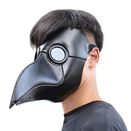 07e5a7cfca Amazon.com  PARTY STORY Plague Doctor Bird Mask Halloween Cosplay Costume  Long Nose Beak Steampunk Party Decoration Props  Toys   Games