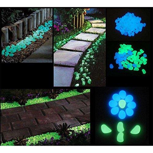 Homder 220pcs glow in the dark garden pebbles for walkways import it all for Glow in the dark garden pebbles