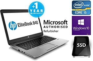 HP EliteBook 840 G1 14-inch Ultrabook (1.90GHz, Intel Core i5 4300U, 4GB Memory 180GB SSD Windows 7 Professional 64-bit (E3W30UT#ABA)