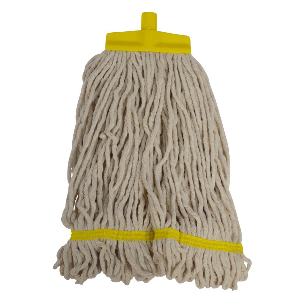 SYR 990034AMZ Mop, Changer, Kentucky, SF Loop, Cotton, Econ Yarn, 12 oz, Yellow (Pack of 10) SYR Ltd