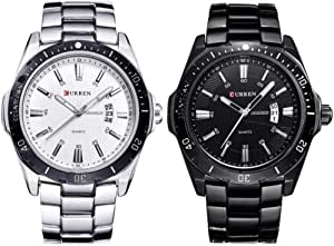 Curren Watch Set For Men Analog Stainless Steel - 8110
