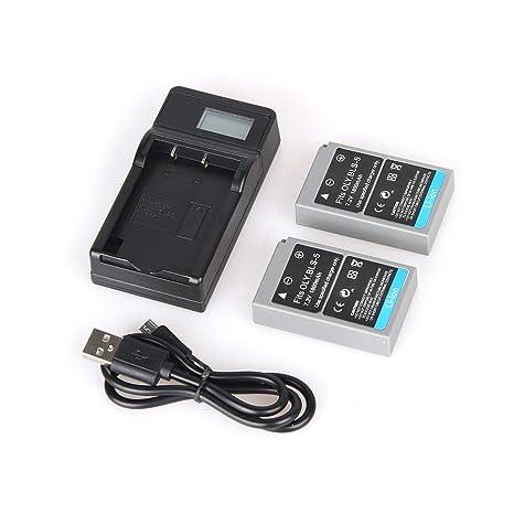 Elviray 2 PCs BLS-5 7.2V 1800mAh Baterías Recargables de Ion ...