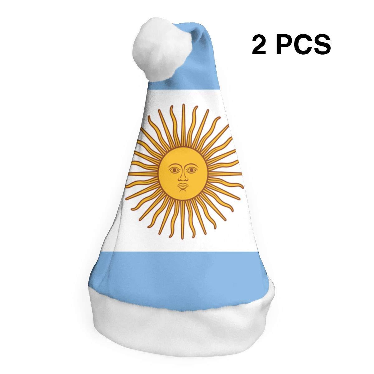 rouxf Gorras de Navidad Bandera Argentina 2 Piezas Novedad Navidad ...