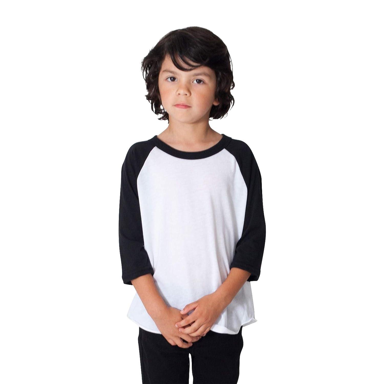 American Apparel Kids 50//50 3//4 Sleeve Raglan