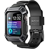 SUPCASE Rugged Protective Case with Strap for Apple Watch 4, 44 mm, Black