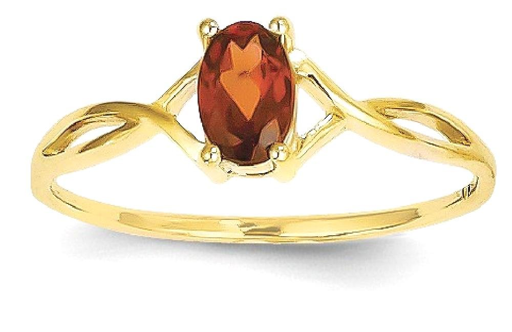 ICE CARATS 14k Yellow Gold Birthstone Band Ring Size 7.00 Stone January Oval Style Fine Jewelry Gift Set For Women Heart