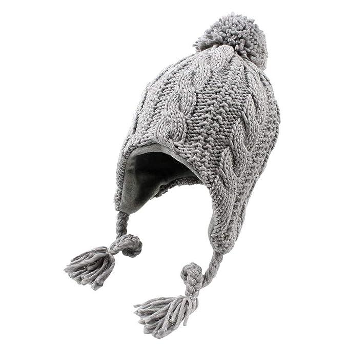 Amazon.com: JANGANNSA - Gorro de invierno con forro polar ...