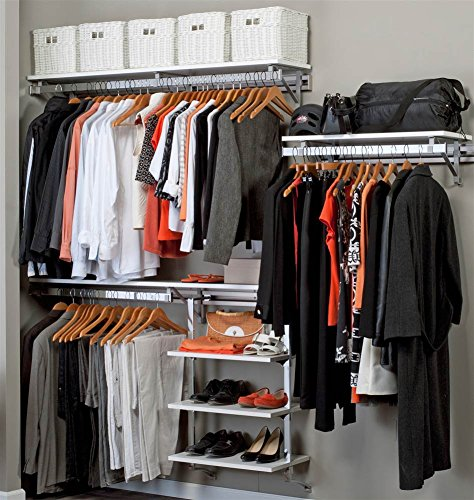 Closet System in White Finish (80 in. W x 11.75 in. D x 84 in. H (93 lbs.))